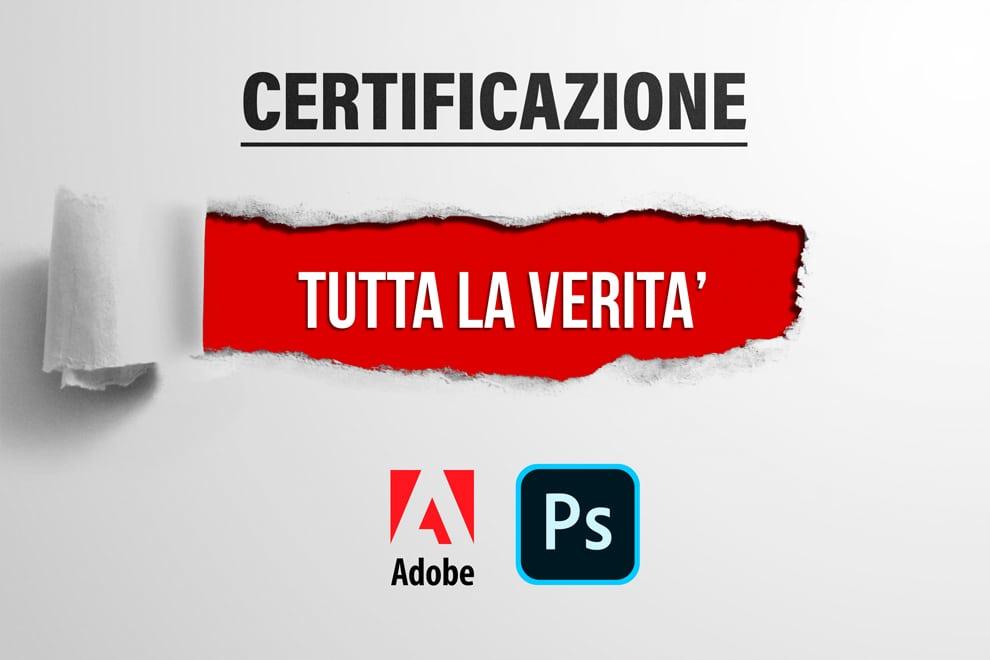 certificazione photoshop